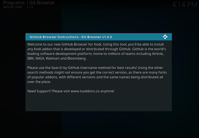 Git Browser Notice