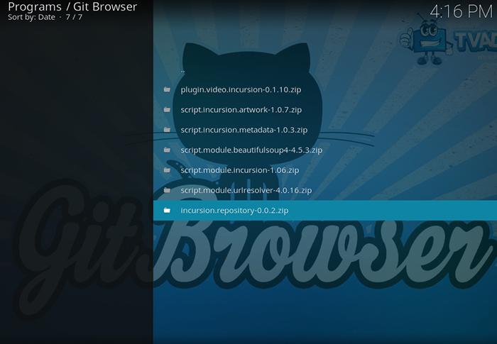 Git Browser Incursion
