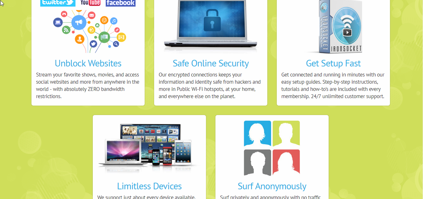 IronSocket vpn Features