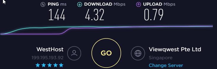 IronSocket vpn Speedtest non US server