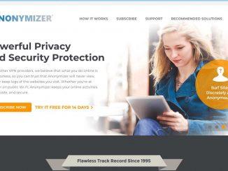 Anonymizer Homepage