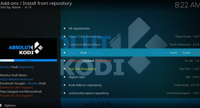 Absolut Repository Guide - Kodi Reviews