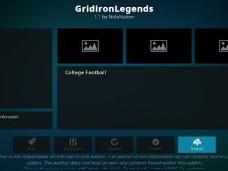 GridironLegends Addon Guide - Kodi Reviews