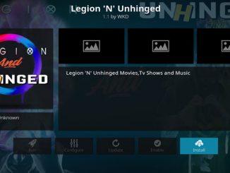 Legion'N'Unhinged Addon Guide - Kodi Reviews