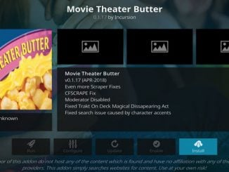 Movie Theater Butter Addon Guide