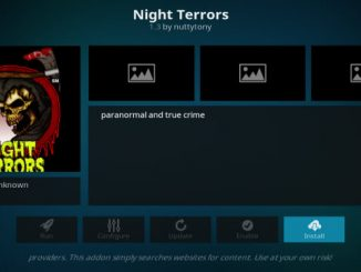 Night Terrors Addon Guide - Kodi Reviews