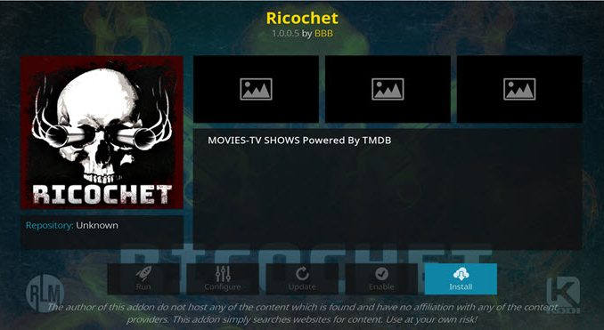 Richochet Addon Guide - Kodi Reviews