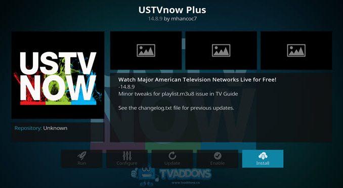 USTV Now Plus Addon Guide