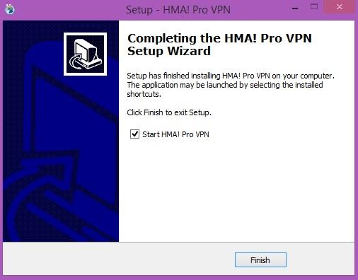 Hide My Ass VPN Installer Finished