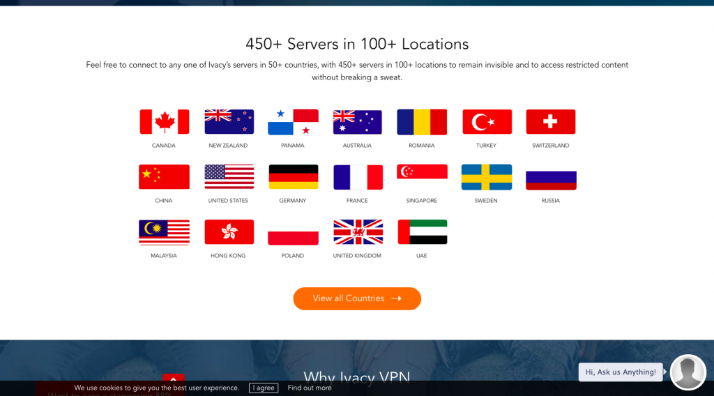 Private internet access country server