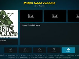 Robin Hood Cinema Addon Guide