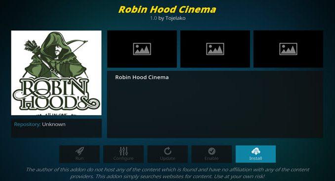 Robin Hood Cinema Addon Guide - Husham com