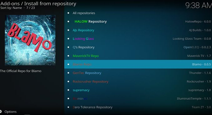 Blamo Repo Guide - Kodi Reviews