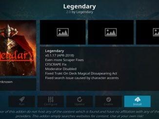 Legendary Addon Guide - Kodi Reviews