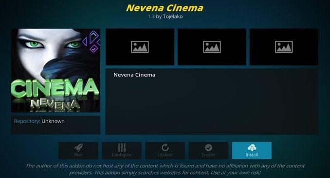 Nevena Cinema Addon Guide - Kodi Reviews