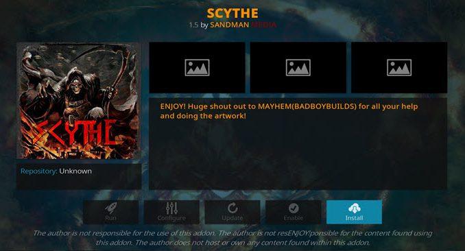 Scythe Addon Guide - Kodi Reviews