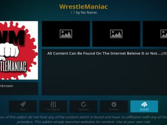 WrestleManiac Addon Guide - Kodi Reviews