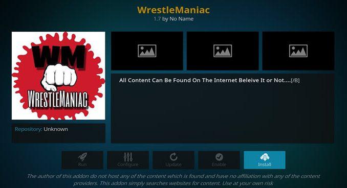 WrestleManiac Addon Guide - Kodi Reviews