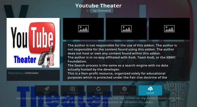 YouTube Theater Addon Guide - Kodi Reviews