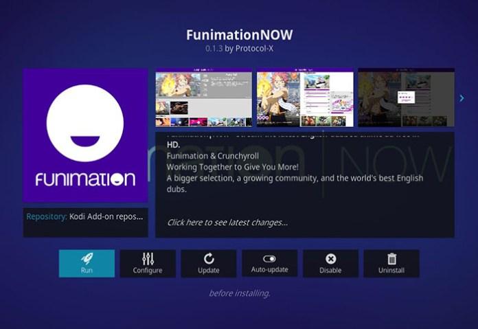Anime Kodi Addons - Funimation NOW