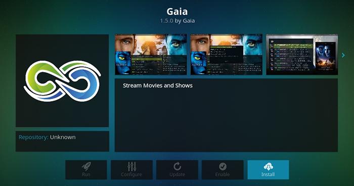Gaia Kodi Addon - Gaia Overview