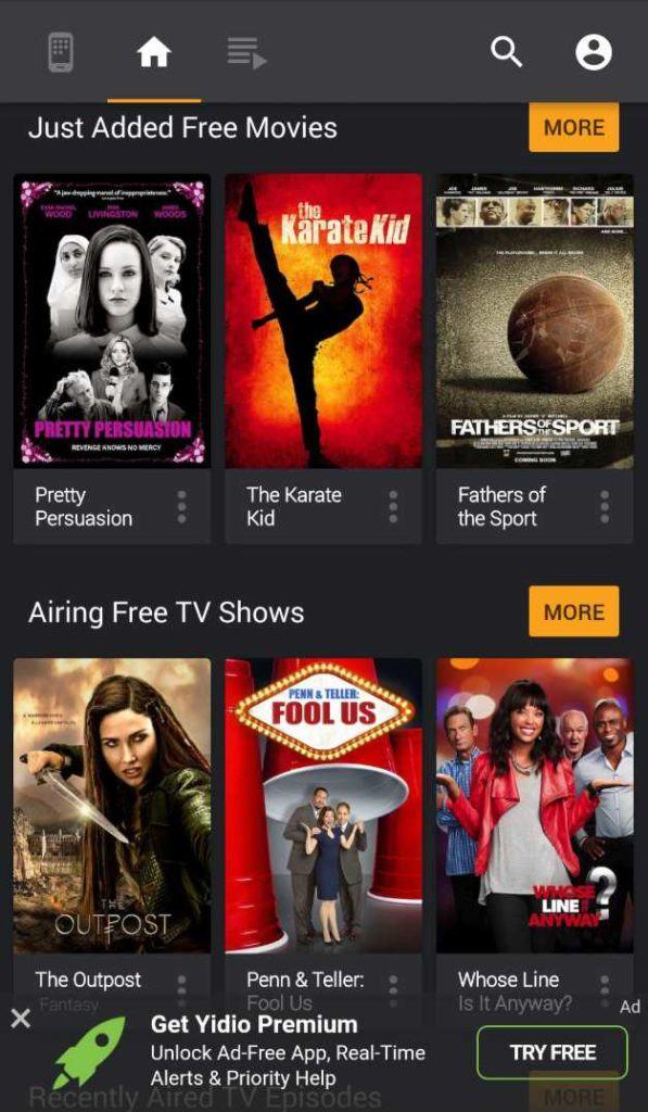 best free tv movie streaming apps