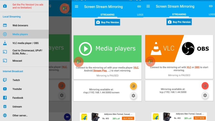 Screen Stream Mirroring Android -Mobzapp
