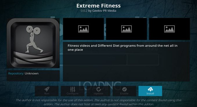 Extreme Fitness Addon Guide - Kodi Reviews
