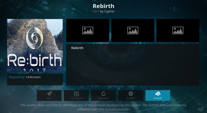 Rebirth Addon Guide - Kodi Reviews