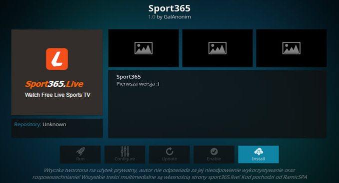 Sport 365 Addon Guide - Kodi Reviews