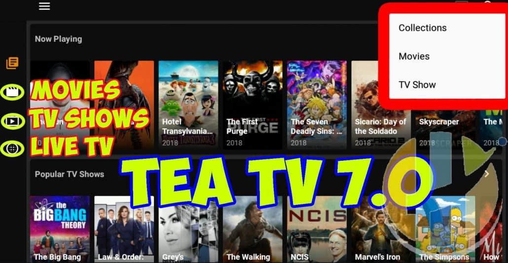 Tea TV APK Updated 7 0 more Movies, TV Shows and IPTV - Husham com APK