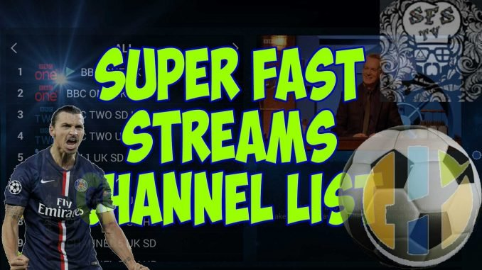SuperFast Streams IPTV Channel list 15/09/2018 - Husham com IPTV