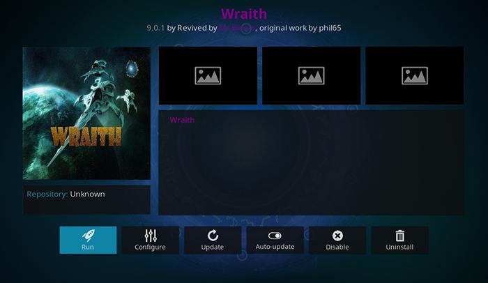 Wraith Kodi Addon - Installation Step 8