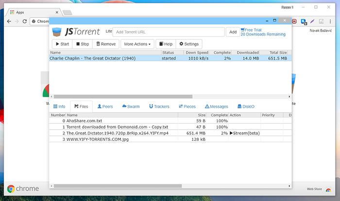 JSTorrent File Manager