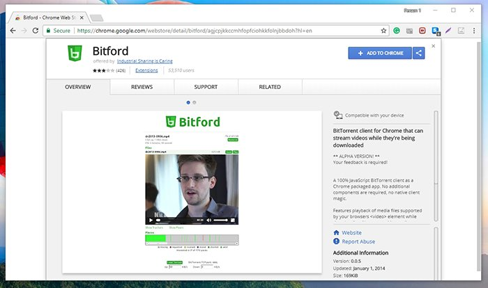 BitFord Chrome Web Store