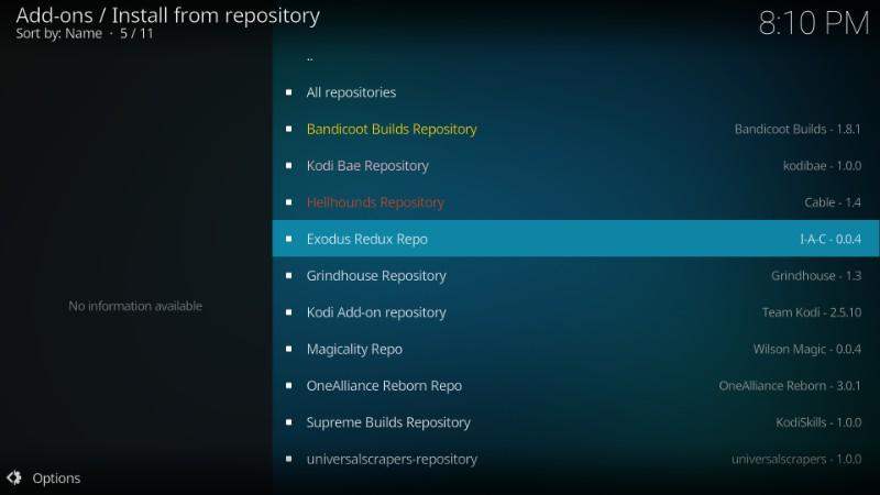 exodus redux repository