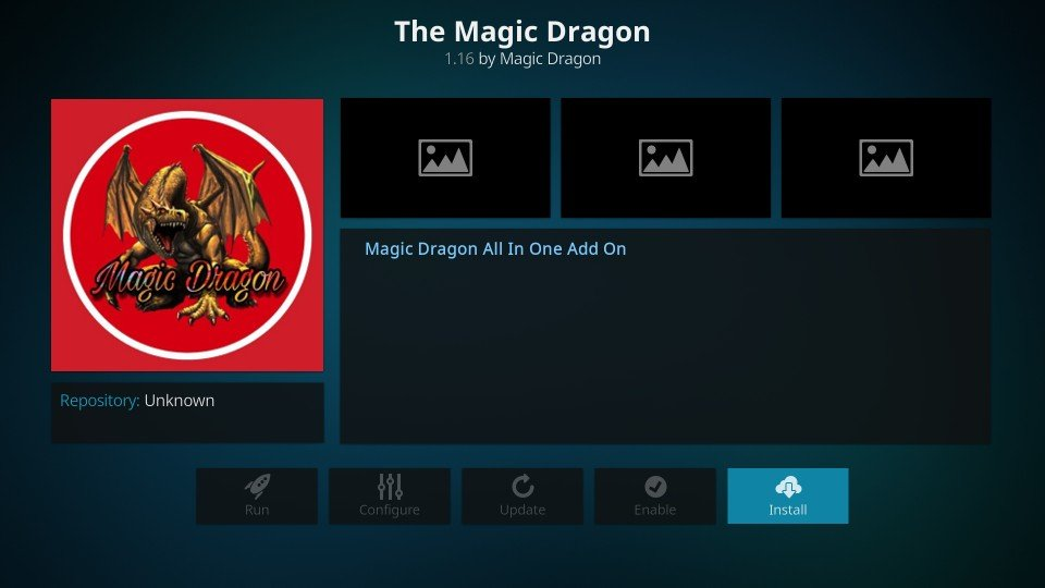 how to install the magic dragon kodi addon