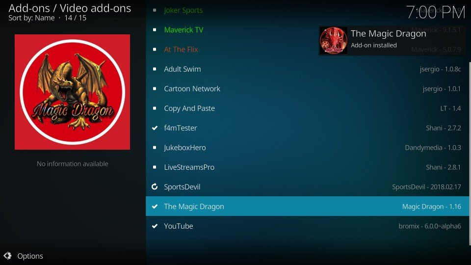 kodi the magic dragon addon