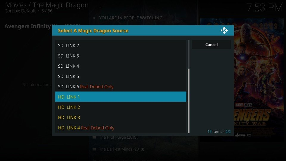 how to use the magic dragon addon on kodi