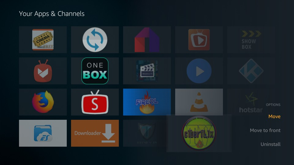 where to find cyberflix on firestick