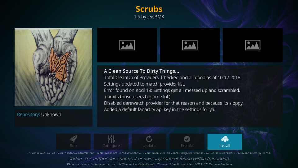how to install Scrubs on Kodi
