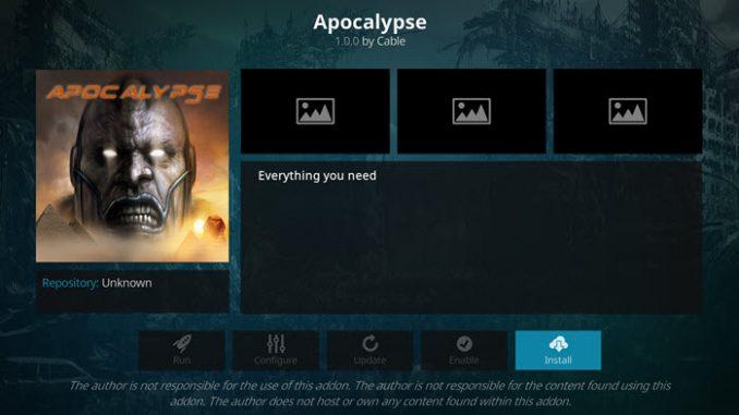Apocalypse Addon Guide - Kodi Reviews