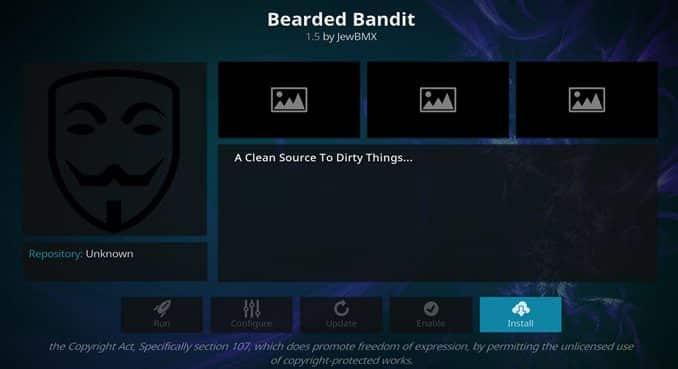 Bearded Bandit Addon Guide - Kodi Reviews