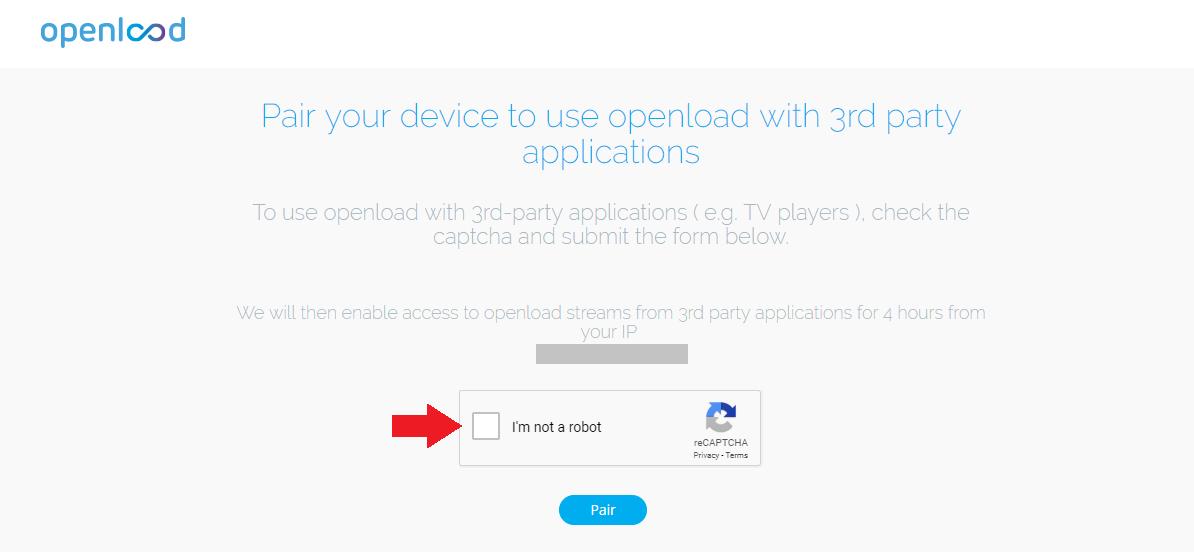 stream authorization on openload