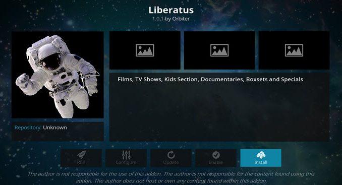 Liberatus Addon Guide - Kodi Reviews
