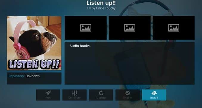 Listen Up Addon Guide - Kodi Reviews