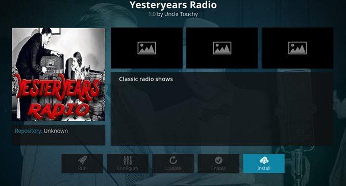 Yesteryears Radio Addon Guide - Kodi Reviews
