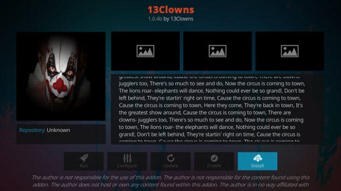 13 Clowns Addon Guide - Kodi Reviews