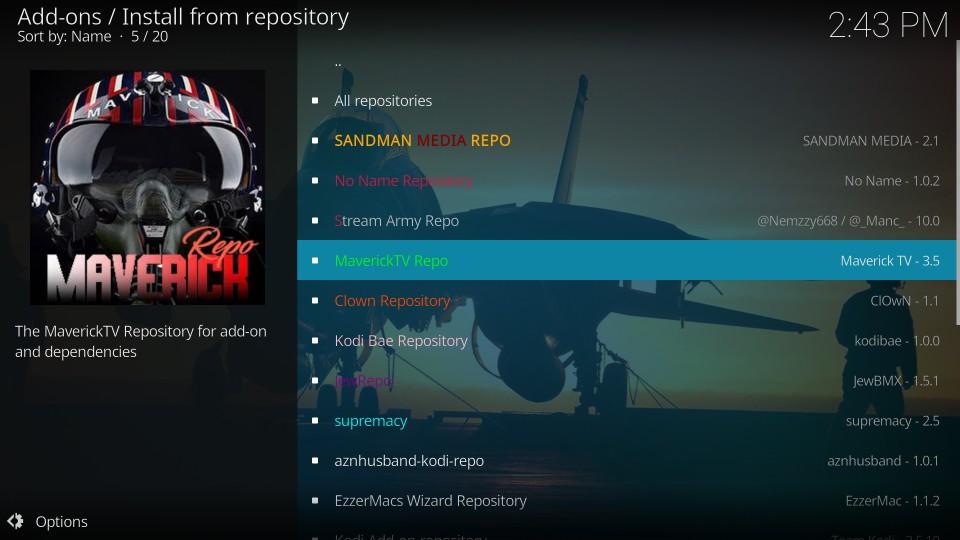 open kodi repository