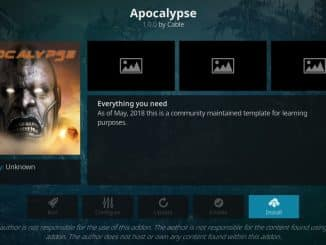 how to install apocalypse addon on kodi